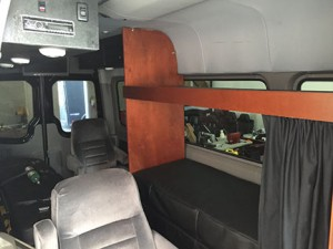 Drivers Bunk and Luggage Area